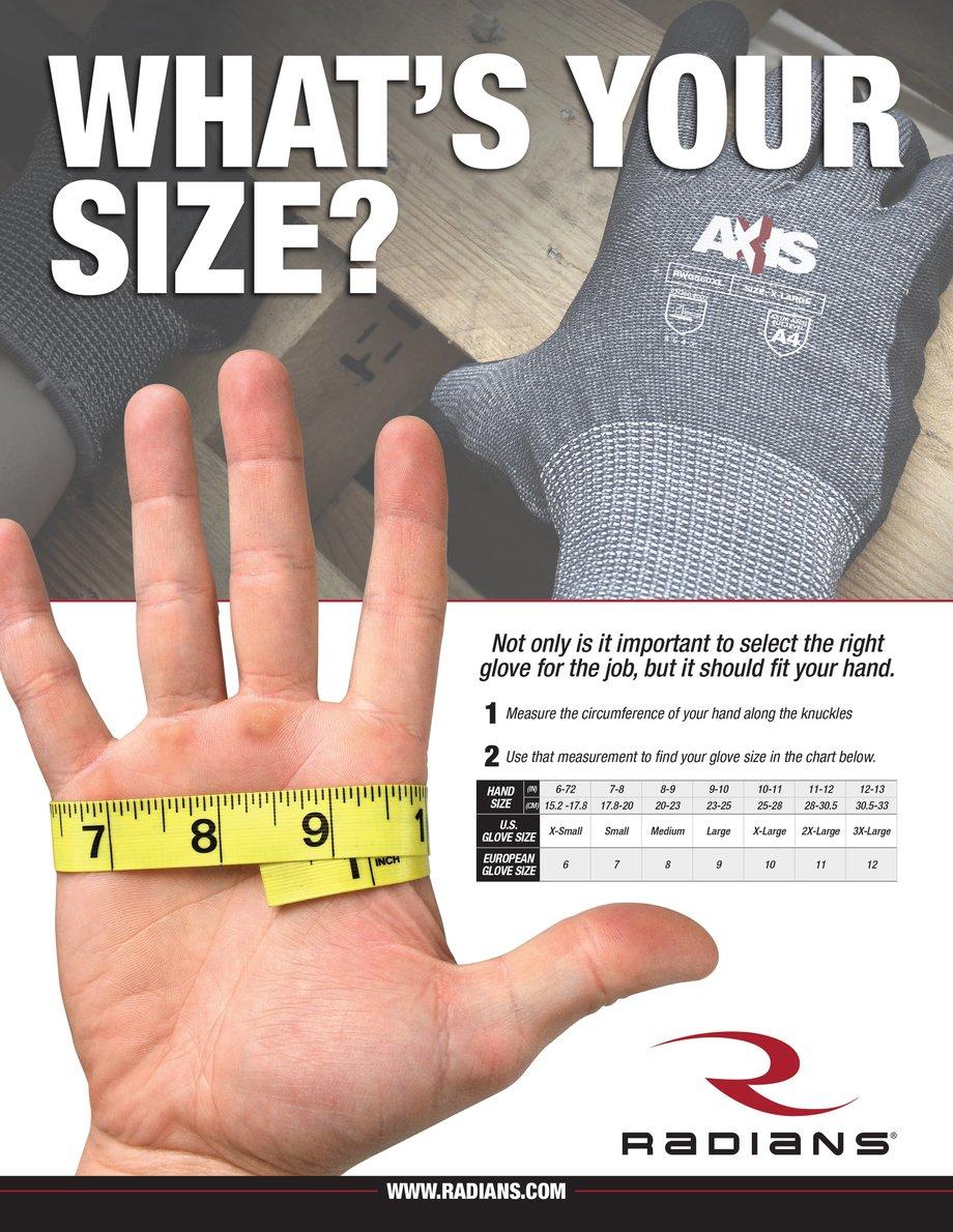 Radians Glove Measurements