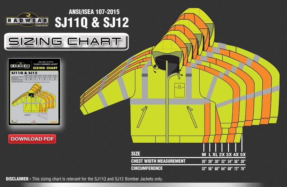 SJ11Q-SJ12 Sizing Chart