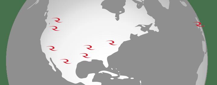 radians location map
